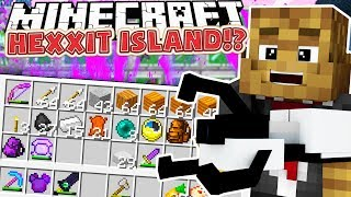 THESE CUSTOM WEAPONS ARE CRAZY! - MINECRAFT'S OLDEST MOD PACK HEXXIT ISLAND SURVIVAL #2