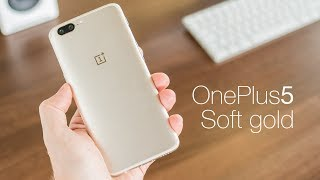OnePlus 5 Soft Gold Edition First look