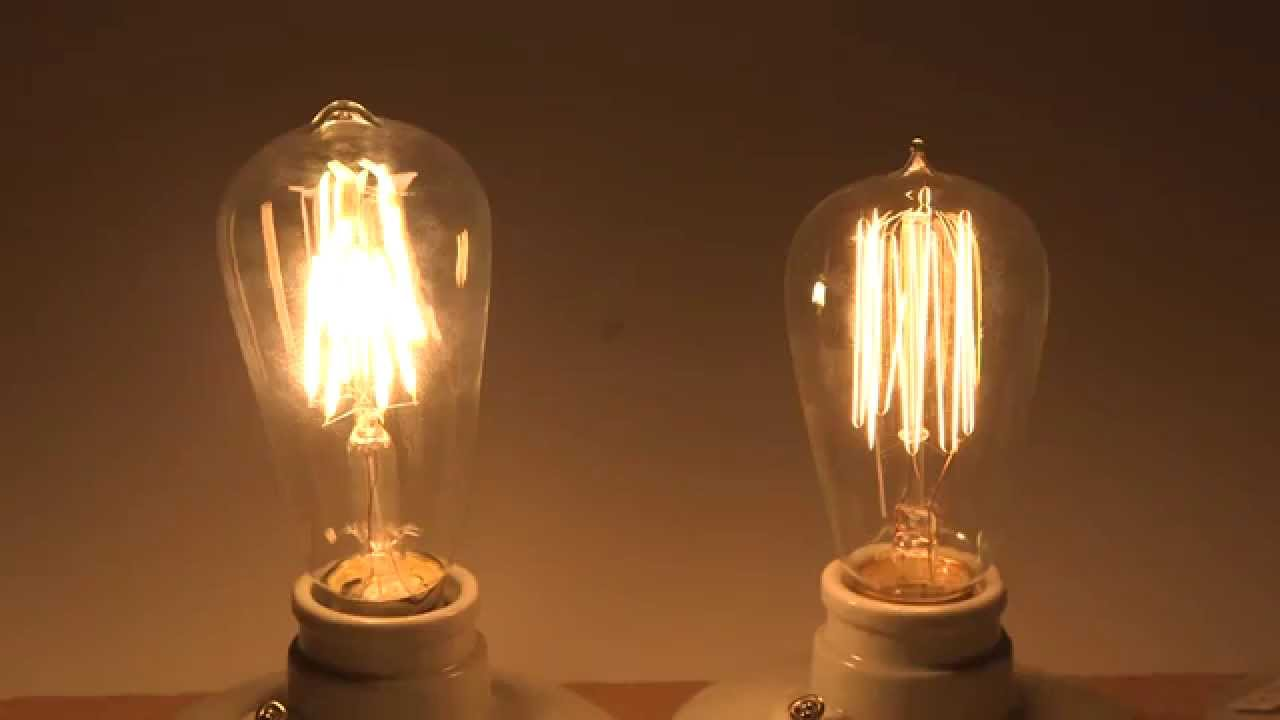 Edison Lampe Led Energy Saving With Led Filament Bulbs Comparison With Edison Incandescent