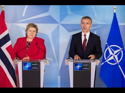 NATO Secretary General with Prime Minister of Norway, 21 JAN 2015