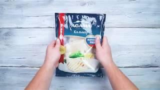 Салат из кальмара  и овощей