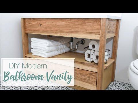 Modern Bathroom Vanity Build