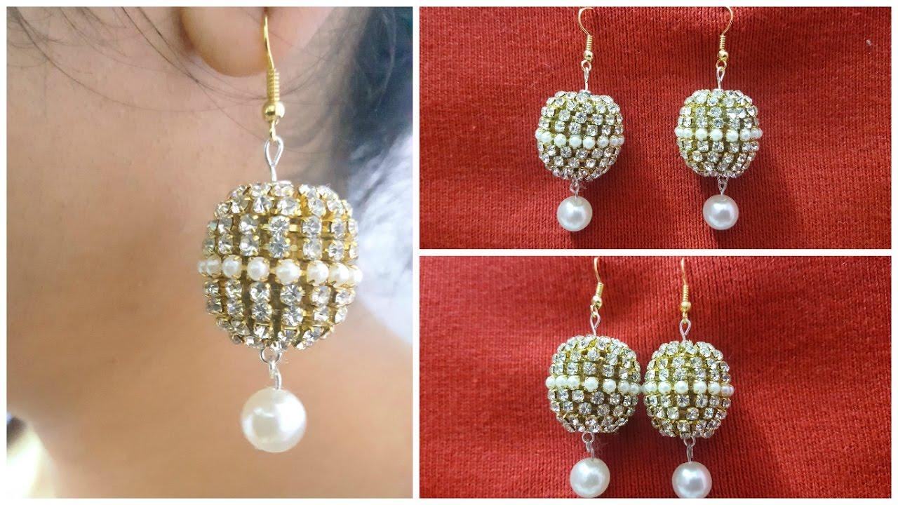 How To Make Latest Designer Bridal Silk Thread Earrings At Home I Creative Diaries