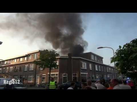 Grote brand in de Kanariestraat Haarlem, kat gered door de brandweer