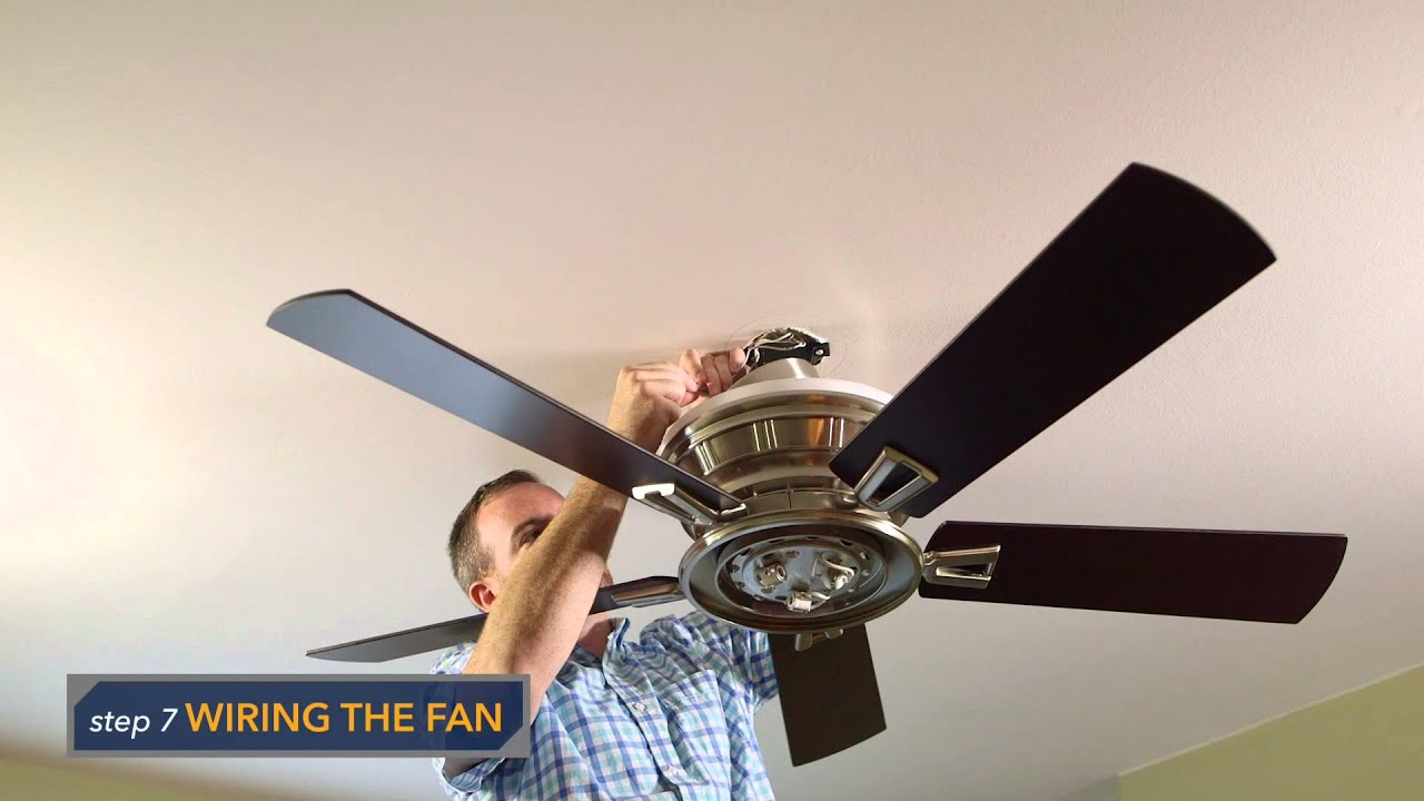 emerson portland eco ceiling fan installation cf965 - youtube