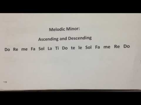 Melodic Minor Scale Using Solfege Youtube