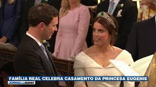 Família real britânica celebra casamento da princesa Eugenie