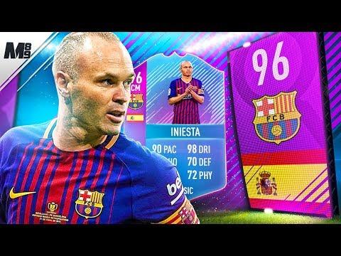 FIFA 18 END OF ERA INIESTA REVIEW   96 EOE INIESTA PLAYER REVIEW   FIFA 18 ULTIMATE TEAM