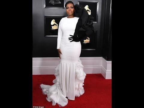 Fantasia Barrino steps out in a showstopping ruffle dress before honoring Aretha