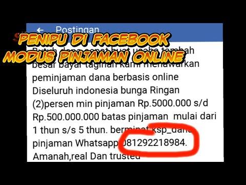Waspada Modus Penipuan Pinjaman Online Di Facebook Youtube