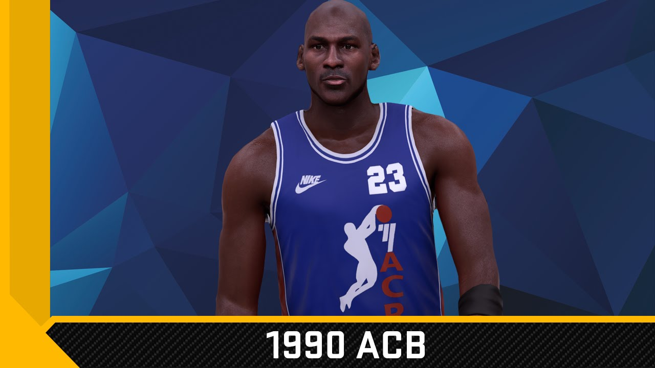 NBA 2K16 1990 ACB Spain Nike Jersey Tutorial (Michael Jordan) - YouTube 31e47400b