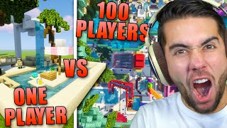 Can 100 Minecraft Noobs Beat Me In A Build Battle?