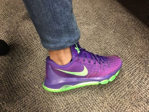 Nike KD 8 SUIT (Purple Green)  Quick Look and on feet