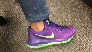 motivo petrolero llegada  Nike KD 8 SUIT (Purple Green) Quick Look and on feet - YouTube