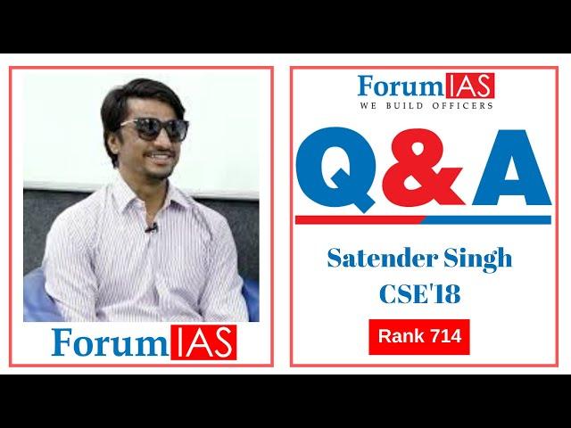 Breaking Prejudices was my Agenda| PH Candidate Satender Singh AIR 714 |Pol Sc Optional
