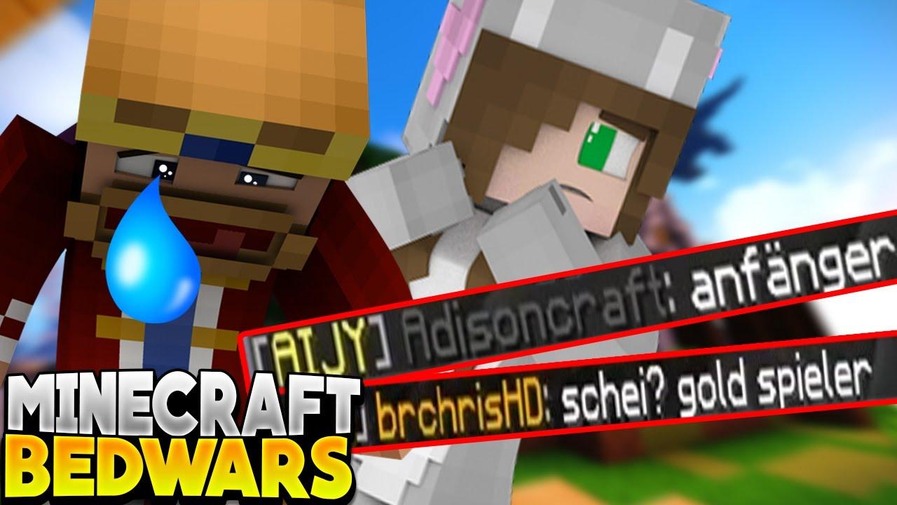 Wir Sind Noobs Und Spielen Mit Gold C Minecraft Bedwars Youtube