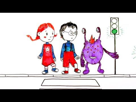 Ювик с планеты Ю - Дорожные знаки -  мультфильм для детей - учим правила дорожного движения