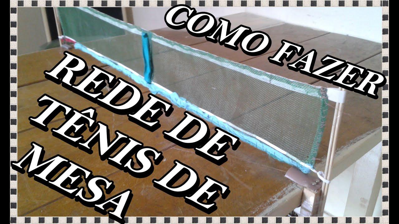 como fazer uma rede de tênis de mesa (ping-pong) - YouTube fa83f221c7a23