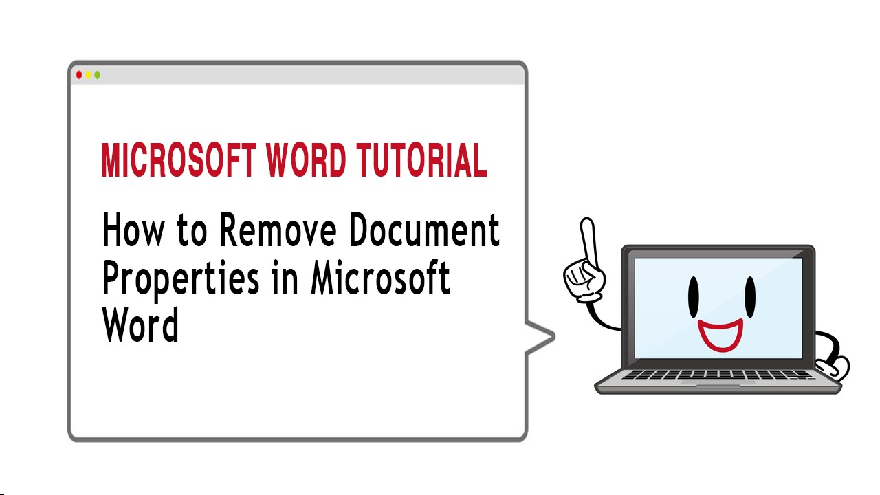 How To Remove Document Properties In Microsoft Word 2010 Youtube