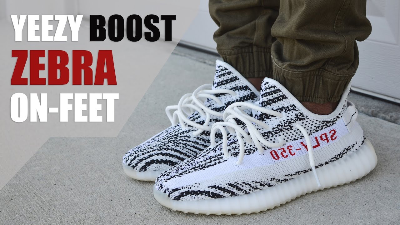 "e939502bd7f34 SUPER LIMITED!! YEEZY BOOST 350 V2 ""ZEBRA"" REVIEW + ON-FEET - YouTube"
