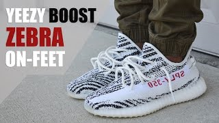 """SUPER LIMITED!! YEEZY BOOST 350 V2 """"ZEBRA"""" REVIEW + ON-FEET"""