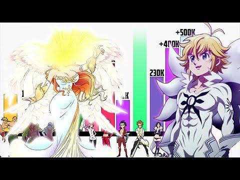 Download Nanatsu no Taizai Película 2: Niveles de Poder de TODOS los Personajes  - Cursed by Light