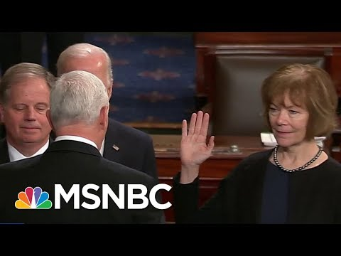 New Democratic Senators Doug Jones And Tina Smith Sworn-In | Andrea Mitchell | MSNBC