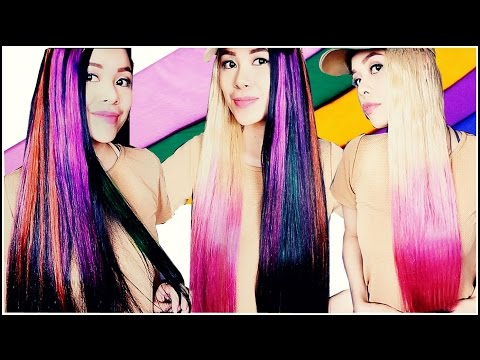 DIY Temporary Highlights & Dip Dye Hair Color Using Crepe Paper-Beautyklove