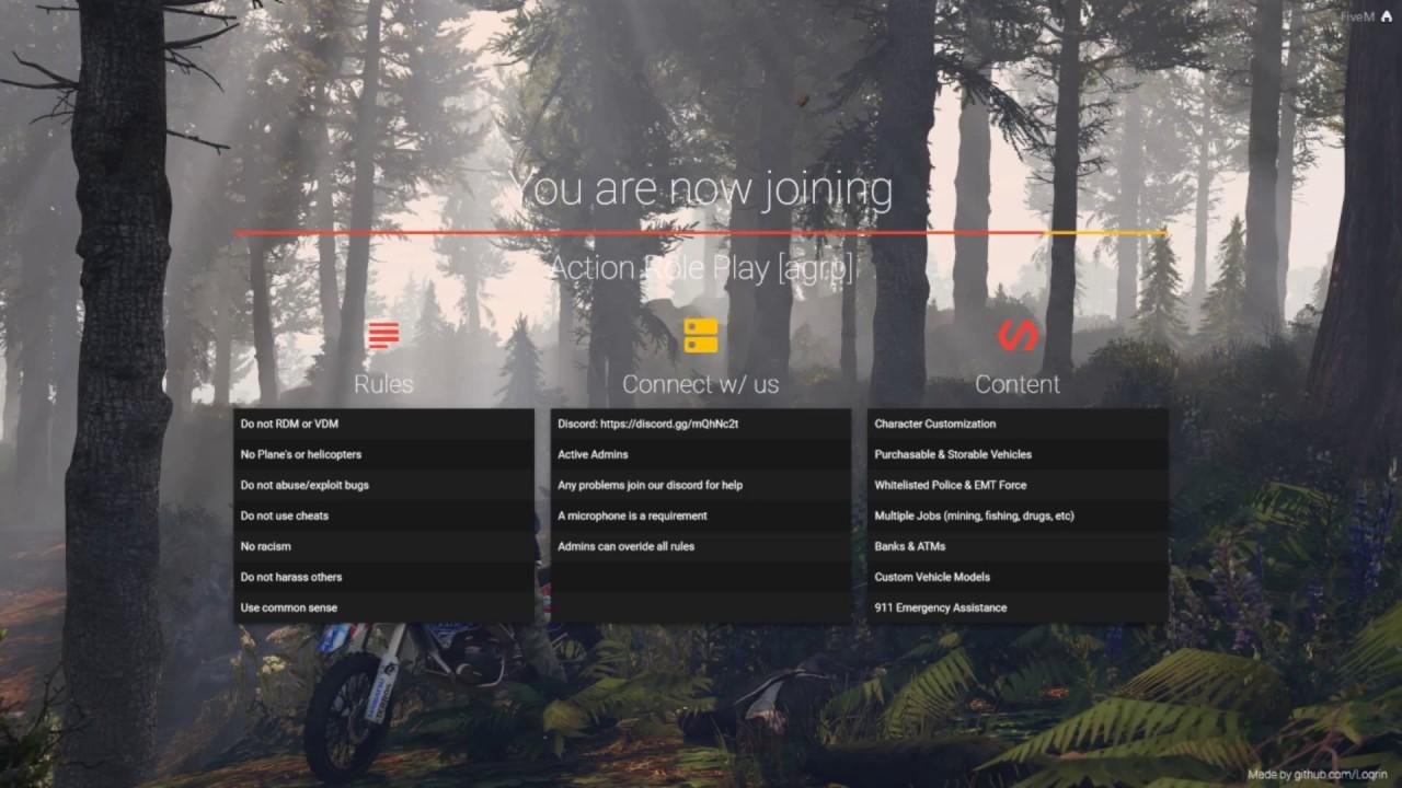 Fivem login screen