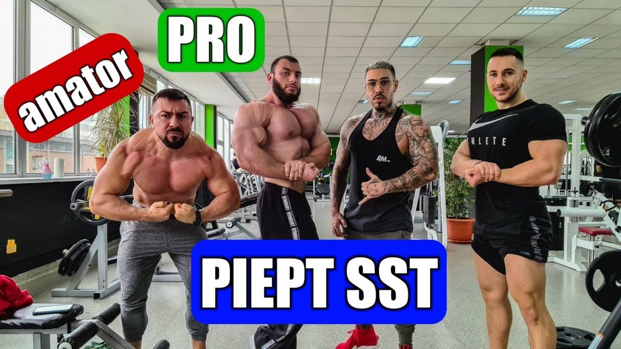 Piept SST | Antrenament monstru cu un profesionist | Dan Cristian + Alex Velea + Cornel Pantelin