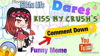 Dare's || Funny Meme || Comment down below!(I want your Dares)