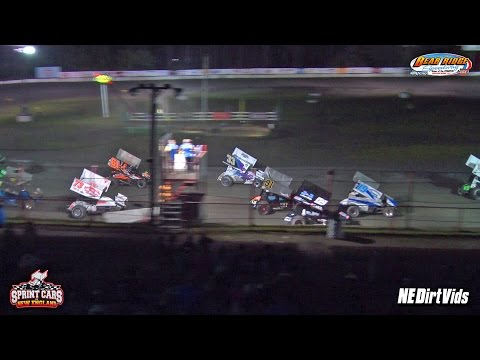 Highlights: Sprint Cars of New England | Bear Ridge Speedway 8-15-2015