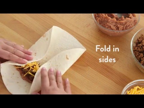How To Fold A Burrito My Food And Family Youtube
