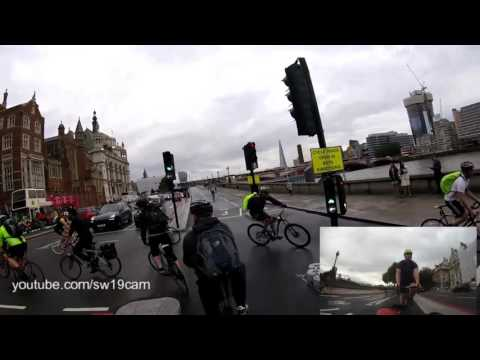 Cycling from Parliament to Stratford on London's Cycle Superhighway (CS3 and CS2, Full route)
