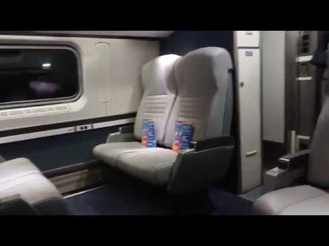 In Amtrak Train leaving from New York Penn Station to Washington DC 2019, Feb 13