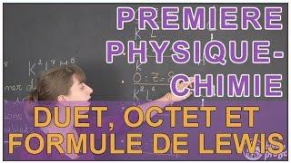 Duet, octet et formule de Lewis - Physique-Chimie - 1ère S - Les Bons Profs