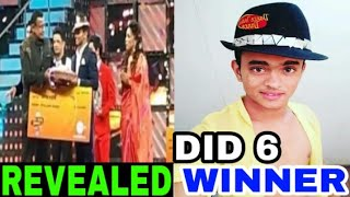 DANCE INDIA DANCE season 6 WINNER REVEALED 2018