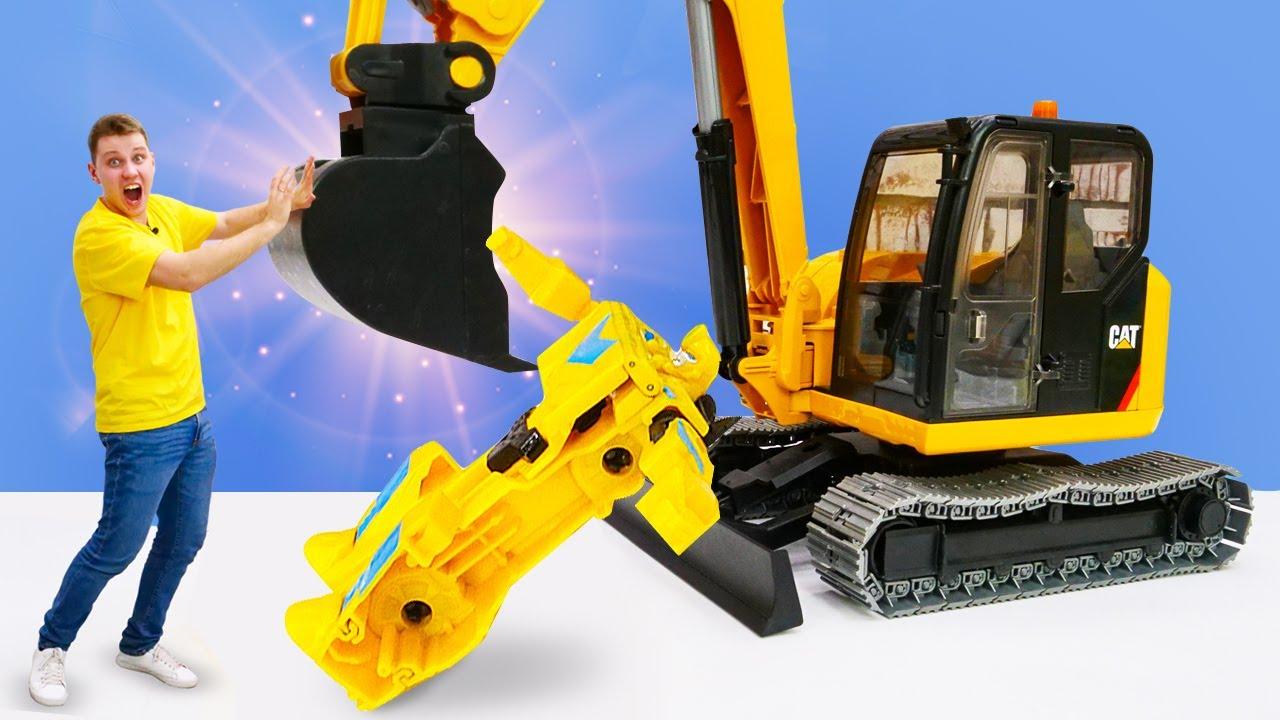 Кто победил Автобота Бамблби? - Роботы Трансформеры. Игры битвы онлайн. Видео машинки для мальчиков