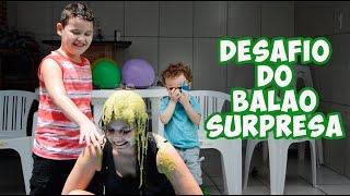 DESAFIO DO BALÃO SURPRESA - DANY E CADU