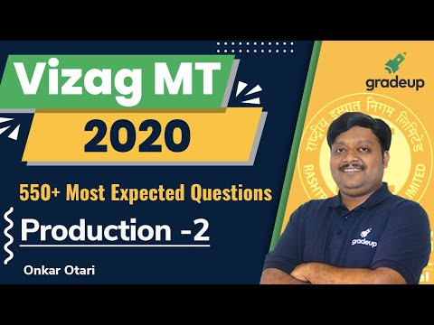 Production   Part 2   Most Expected Questions   Vizag MT 2020   By Onkar Sir