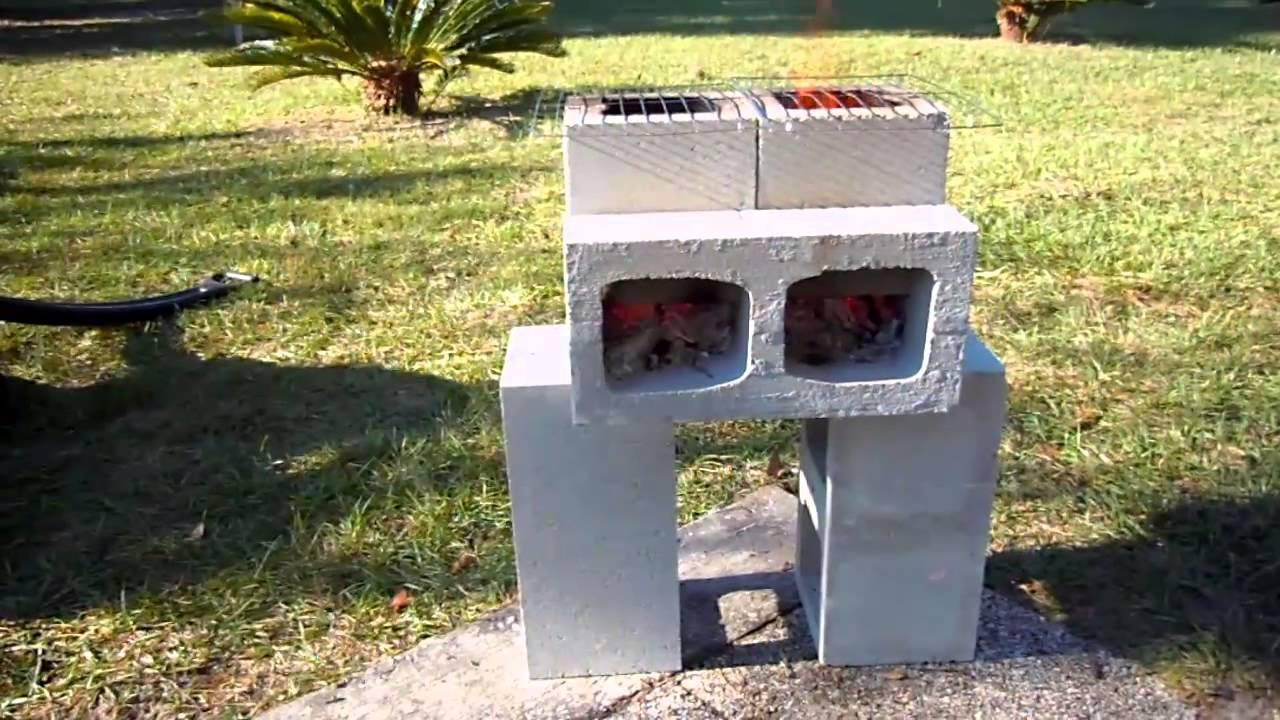Our diy concrete block rocket stove youtube for 4 block rocket stove