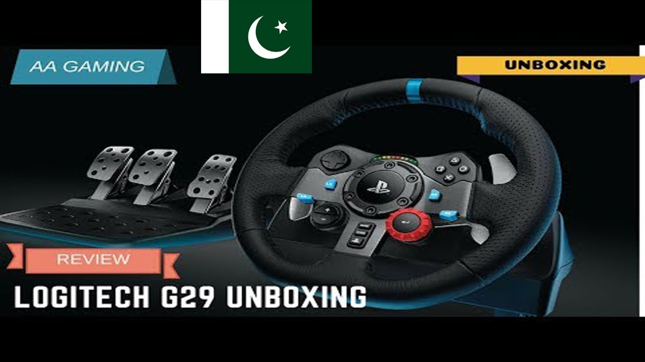 ef7c935a51e Logitech G29 Driving Force Racing Wheel Unboxing in Pakistan [Urdu/Hindi]
