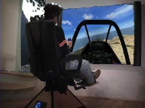Motion Simulation Chair On FSX, Helicopter, Airplane, And Flight Simulator  And DIRT   YouTube
