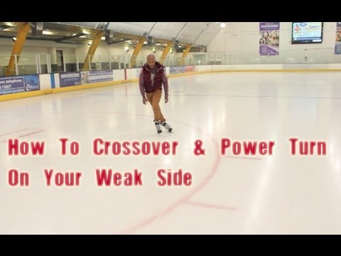 How To Learn Crossovers And Tight Hockey Turn Power Turns On Your Weak Side - Crossover Power Turn
