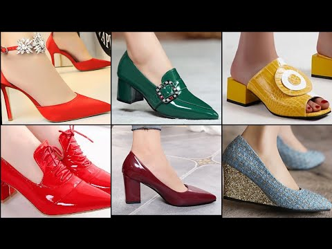 SLIP ON UNBELIEVABLE PUMP SHOES DESIGN STYLISH FOOTWEAR DESIGN FOR WOMENS PARTY WEAR SHOES DESIGNER