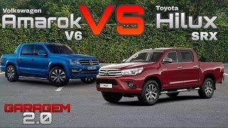 comparativo volkswagen amarok v6 vs toyota hilux srx garagem 2 0