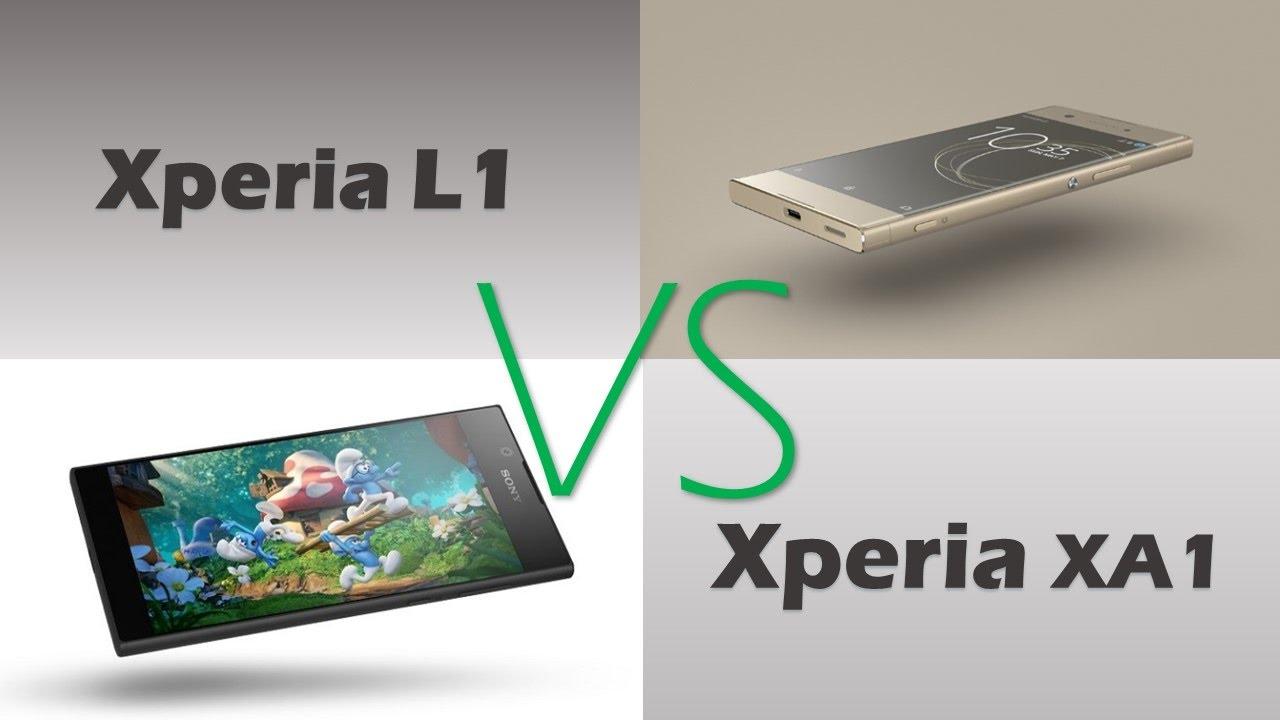 Sony xperia L1 VS xperia XA1 - YouTube