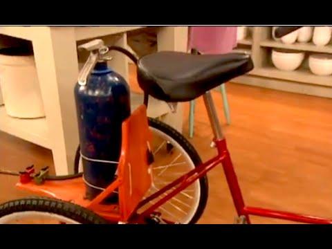 Martha Stewart on my Rocket Bike