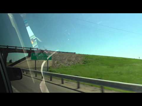 Fedex ground truck & airport Kansas  USA storm chase 11May15 335p