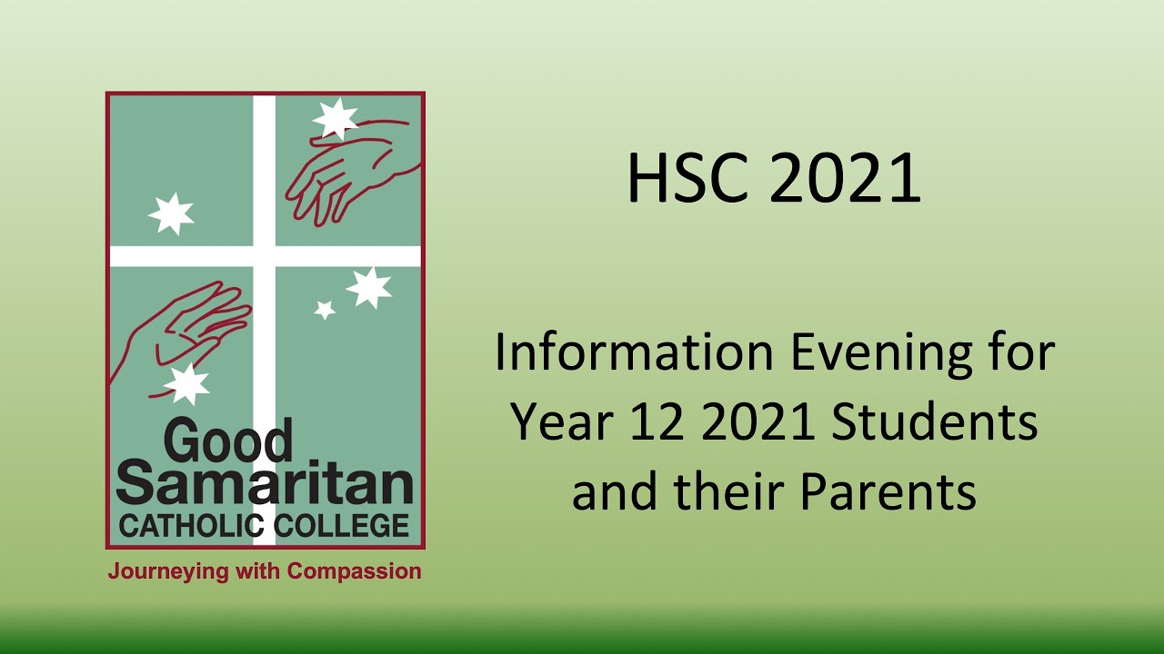 Year 12 2021 HSC Course Information Presentation